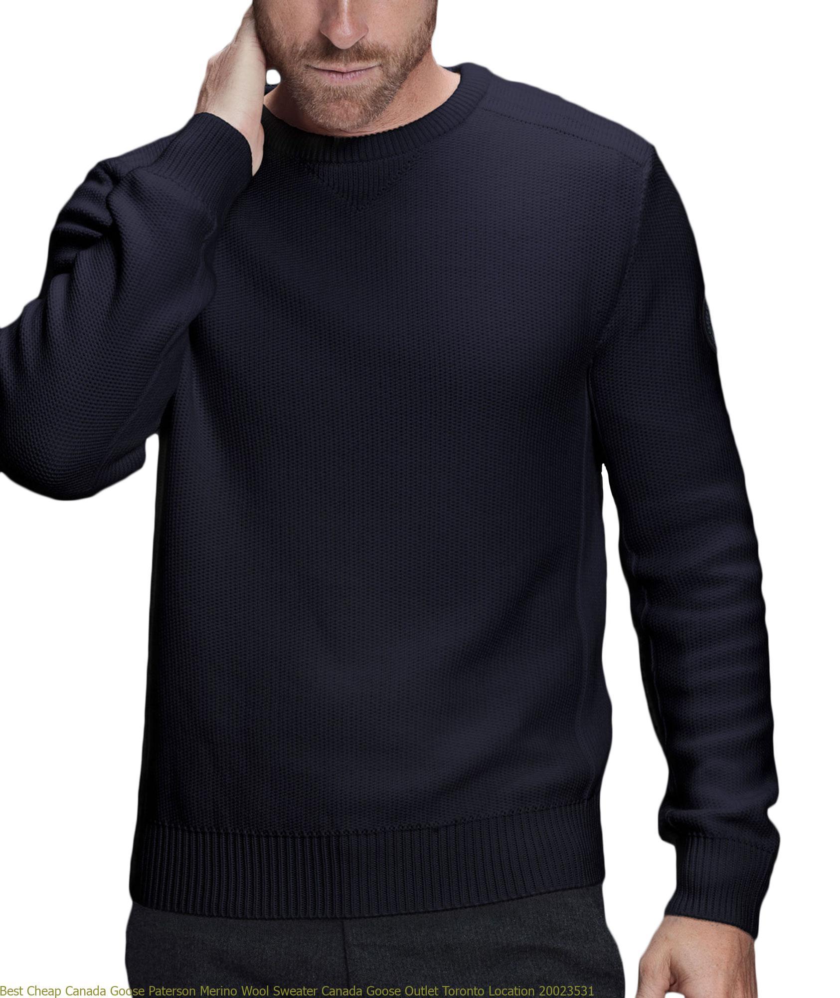 Best Cheap Canada Goose Paterson Merino Wool Sweater Canada