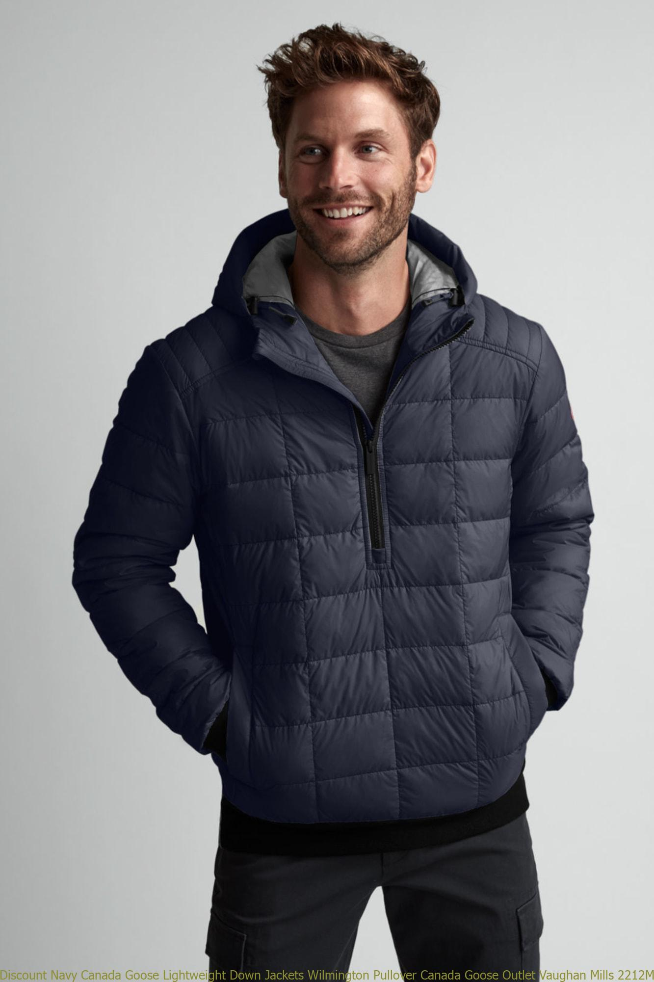 Discount Navy Canada Goose Lightweight Down Jackets Wilmington Pullover Canada Goose Outlet Vaughan Mills 2212M