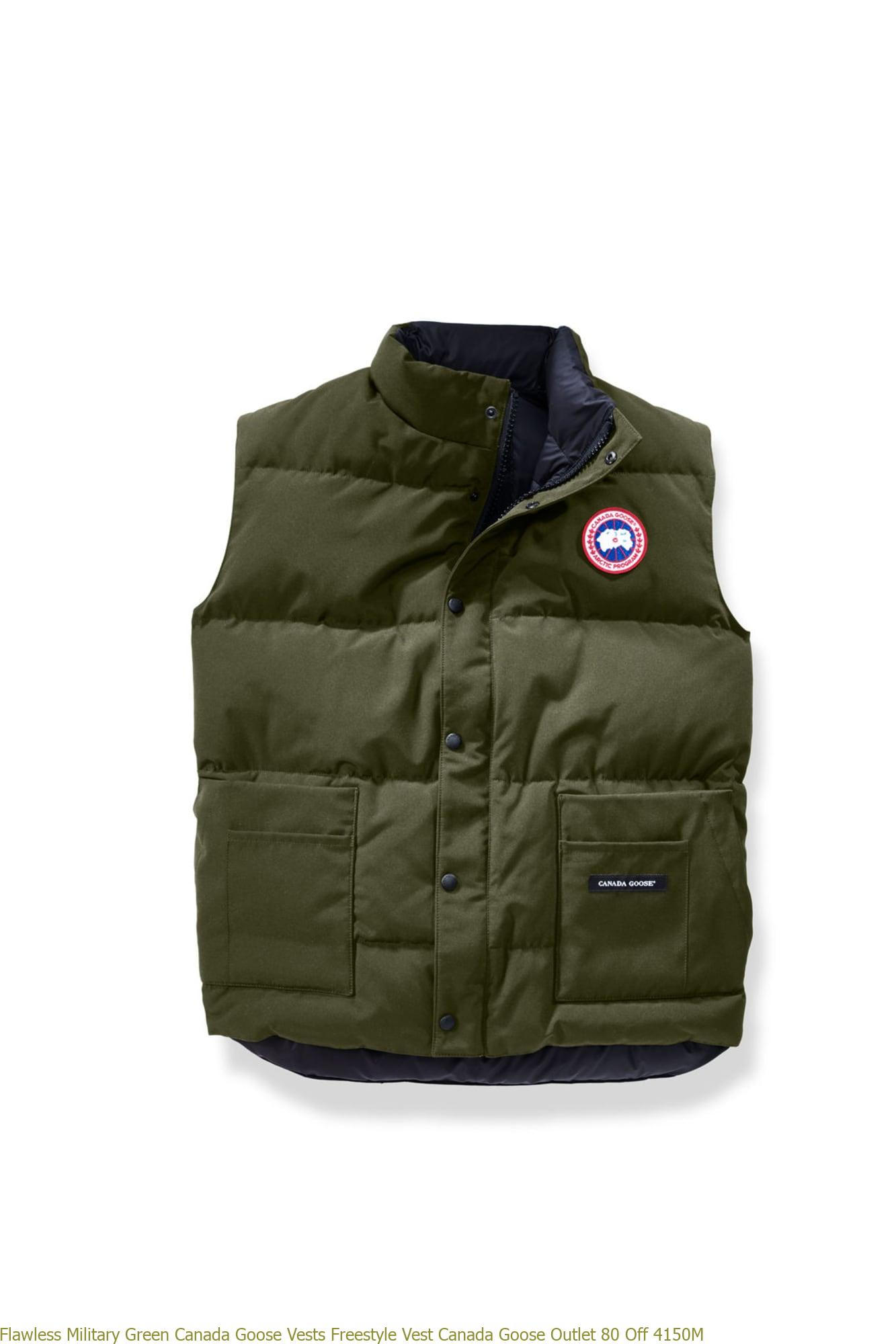 Cheap Military Green Canada Goose Vests Freestyle Vest Canada Goose Outlet England 2832L
